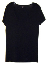 DANA BUCHMAN SIGNATURE CLASSIC & VERSATILE WOMENS SOLID BLACK KNIT TOP S... - $24.99