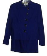 KASPER MACY'S BEAUTIFUL BLUE/PURPLE TONE 2 PIECE JACKET & SKIRT SUIT SET... - $59.99