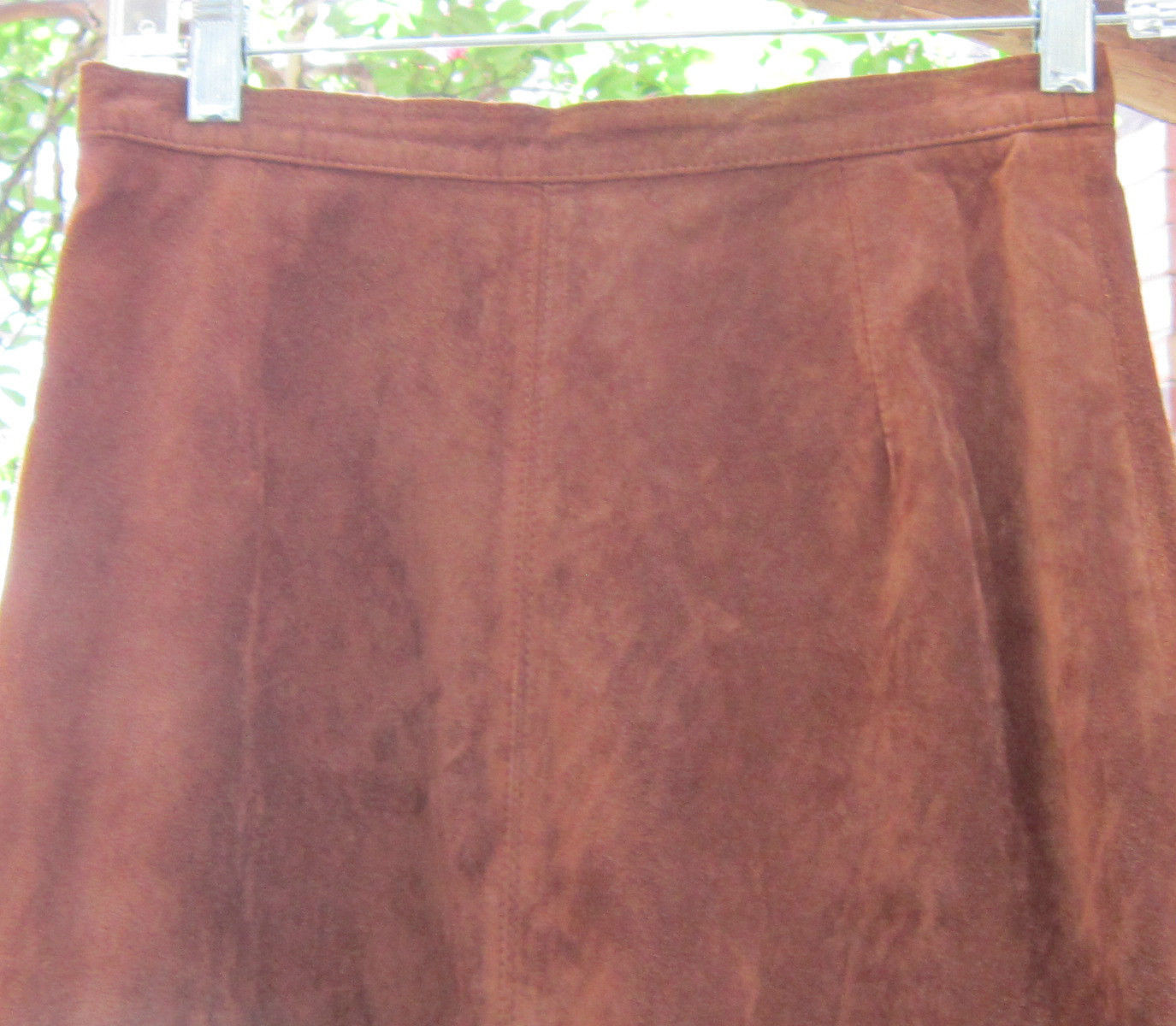 BRANDON THOMAS NORDSTROM BROWN LEATHER SUEDE MAXI SKIRT SIZE 4