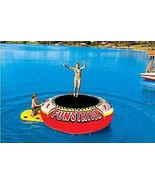 Water Trampoline Bouncer 12' Inflatable Play Station Jumper Heavy Duty S... - $722.36