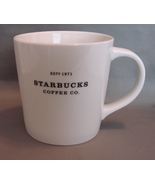 2010 Starbucks Coffee - 2 White Mugs 16oz Bone China - $12.00
