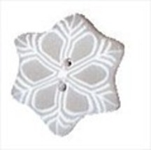 "Small Snowflake 4442s handmade clay button .5"" Just Another Button Co - $2.10"