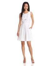 Miss Sixty M60 $128 Eyelet Embroidered Dress White size 6 Medium M NEW 》 - $39.57