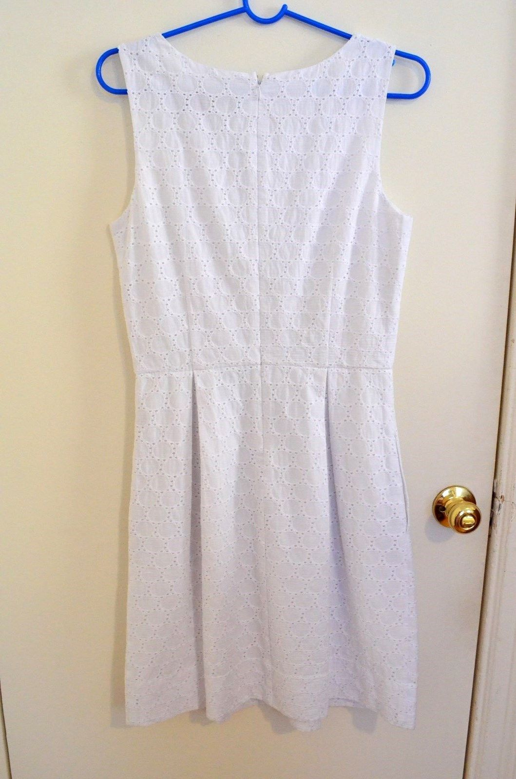 Miss Sixty M60 $128 Eyelet Embroidered Dress White size 6 Medium M NEW 》