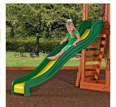 Primary image for Backyard Wooden Swing Set Cedar Outdoor Playground Slide Swing Trapeze Bar Play