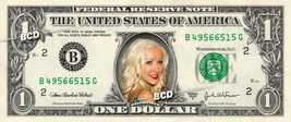 Christina Aguilera On Real Dollar Bill Collectible Celebrity Cash Money Gift - $4.44