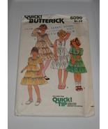Vintage Butterick 6090 Layered Ruffled Dresses  Girls Size 14 - $3.50