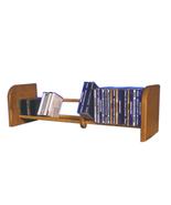 Cdracks Solid Oak 1 Row Dowel CD Rack Capacity 55 CD's Honey Oak Finish - $65.00