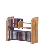Cdracks Solid Oak 2 Row Dowel CD Rack Capacity 84 CD's Honey Oak Finish - $89.00