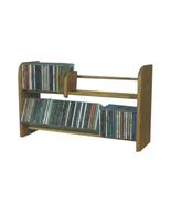 Cdracks Solid Oak 2 Row Dowel CD Rack Capacity 110 CD's Honey Oak Finish - $92.00