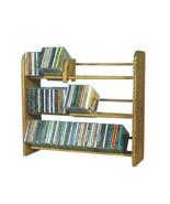Cdracks Solid Oak 3 Row Dowel CD Rack Capacity 165 CD's Honey Oak Finish - $116.00