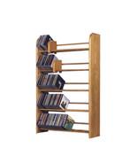 Cdracks Solid Oak 5 Row Dowel CD Rack Capacity 275 CD's Honey Oak Finish - $177.00