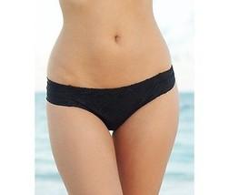 NEW BECCA by Rebecca Virtue Just A Peak Tab Bikini Bottom Swimwear Black XS - $19.79