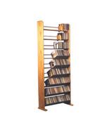 Cdracks Solid Oak 9 Row Dowel CD Rack Capacity 504 CD's Honey Oak Finish - $442.00