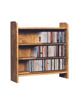 Cdracks Solid Oak 3 Shelf CD Cabinet Max. Capacity 220 CD's Honey Oak Fi... - $196.00