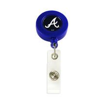 MLB Atlanta Braves Retractable Badge Reel Id Ticket Clip Blue - $9.99