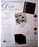 New Creative Memories Dusky Solid Paper Pack:6 Sheets/6 Colors - $7.84