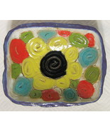 Abstract Studio Art Pottery Bowl Hand Built Coils Signed WA - $44.54