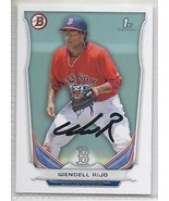Wendell Rijo Signed Autographed Card 2014 Bowman Prospects - $9.90