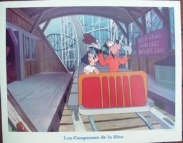 Disney Goofy rollercoaster ride Las Compeones De La Risa Lobby Card WDP - $15.47
