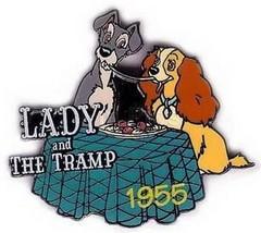Disney Lady Tramp spaghetti dinner dated 1955 Pin/Pins - $19.30