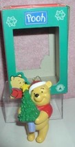 Disney Winnie the Pooh holding Christmas Tree ornament - $19.34