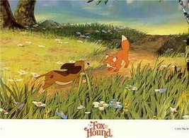 Disney Fox and the Hound running dated 1981 Lobby Card - $24.18