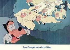 Walt Disney Productions Goofy sheep Las Compeones De La Risa Lobby Card - $19.34
