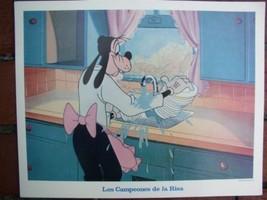 Disney Goofy in Kitchen Las Compeones De La Risa Lobby Card WDP - $15.47