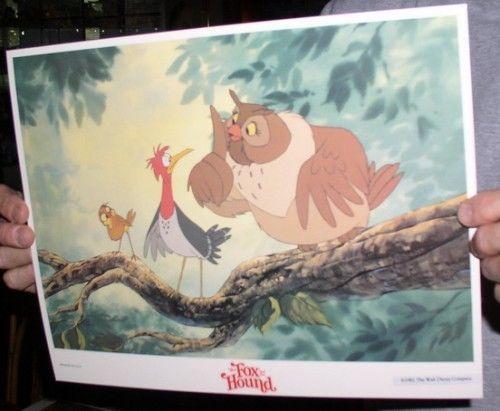 Disney Fox and the Hound Mama the Owl dated 1981 Lobby Card