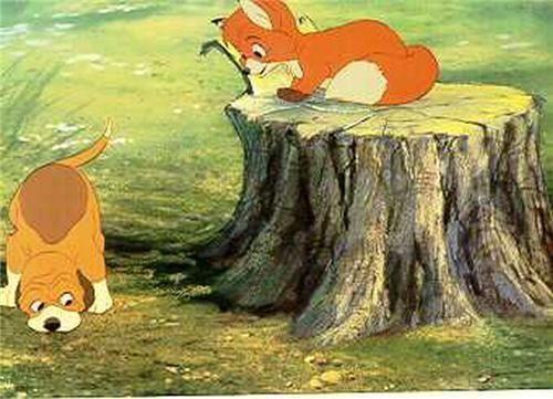 Disney Fox and the Hound meet dated 1981 Lobby Card