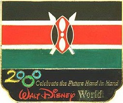 Disney Millennium Village Pavilion Kenya Flag Pin/Pins - $48.37