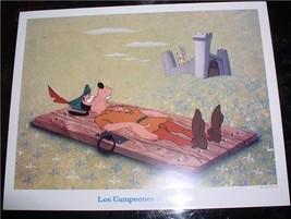 Disney  Goofy as Robin Hood  Las Compeones De La Risa Lobby Card WDP - $19.34