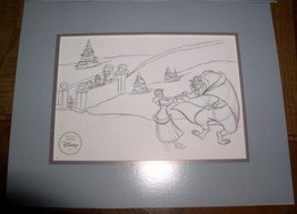 Disney Beauty & Beast Lithograph Special Ed 1997 Gold Seal - $261.22