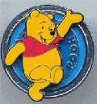 Disney Disk Series - walking and waving, 3D  blue Winnie the Pooh pin/pins - $14.50
