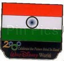 Disney Millennium Village Pavilion India  Flag pin - $48.37