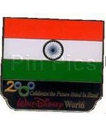 Disney Millennium Village Pavilion India  Flag pin - $48.37