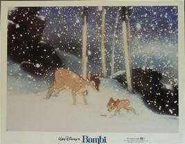 Disney Bambi & Winter Snow Lobby Card Walt Disney Prod - $24.18