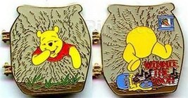 Winnie the Pooh Rabbit house hinged Authentic Disney Pin - $28.98