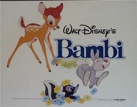 Disney Bambi Flower Thumper Movie  Bambi Lobby Card  Walt Disney Produciton - $38.69