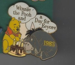 Disney - Eeyore - day with Winnie The Pooh 1983 Pin/Pins - $21.28