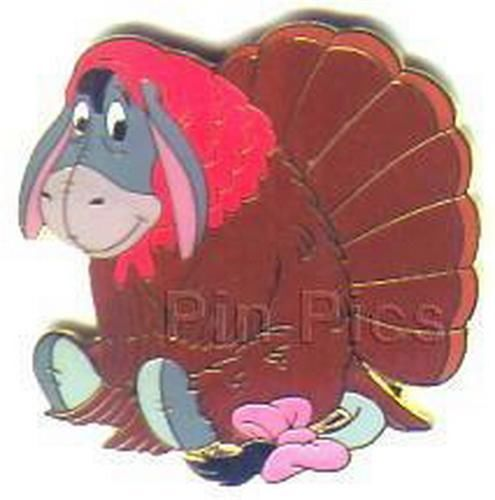 Eeyore as a turkey  from Winnie the pooh LEDisney Authentic On Cad  pin - $58.04