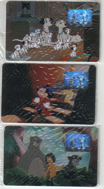 WDCC Movie 3 Phone Cards Sorcerer Mickey