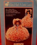 """Vintage MARY HAD A LITTLE LAMB DOLL Crochet Patterns 13"""" BED DOLL PILLOW... - $6.95"""