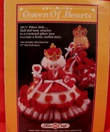 """Vintage QUEEN Of HEARTS DOLL Crochet Patterns 13"""" BED DOLL Dress PILLOW ... - $6.95"""
