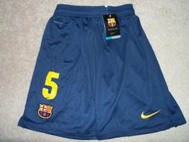 Carles Puyol Shorts Barcelona #5 FCB 2013-2014 argentina spain BNWT cataluna - $29.99