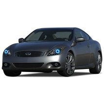 FLASHTECH for Infiniti Q60 14-15 Blue Single Color LED Halo Ring Headlig... - $136.22