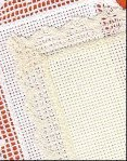 Ivory Lace Bookmark 18ct aida lace edge Charles Craft