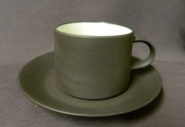 Dansk Designs Denmark Smooth Brown Flamestone Cup and Saucer - $18.99