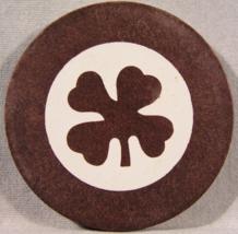 Antique Shamrock Clay Inlaid Poker Chips - Circa 1900'S - (Sku#2128) - $2.99